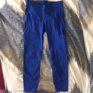 Lululemon Blue Tights, Size 8